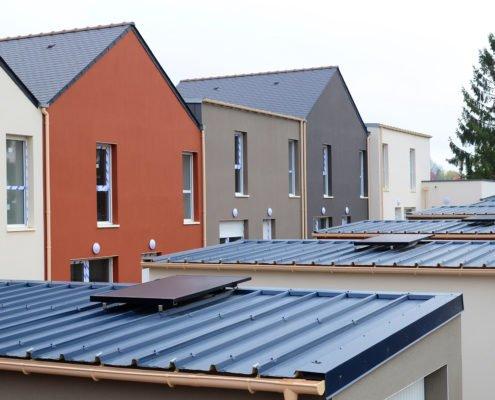 construction lotissement électricité panneau solaire